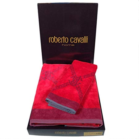 Полотенце 100х150 Roberto Cavalli Spider red