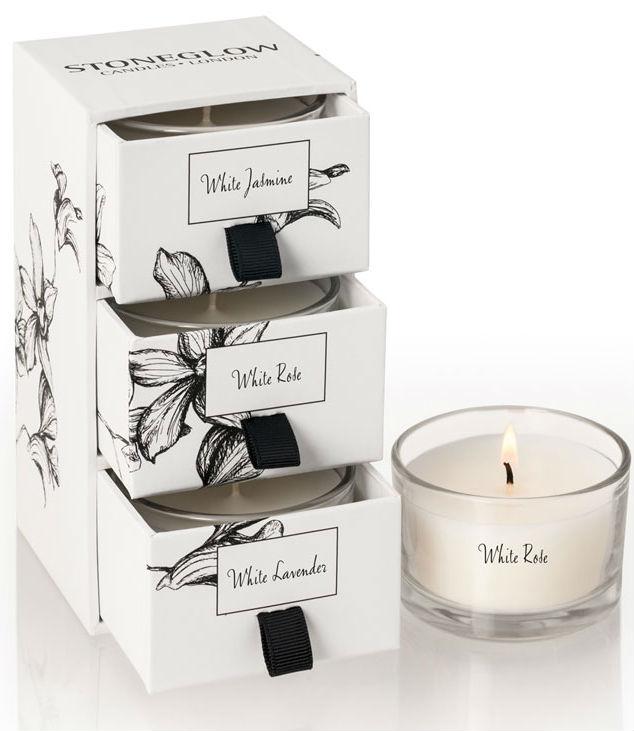 Свеча ароматическая Stoneglow Белый жасмин /Роза
