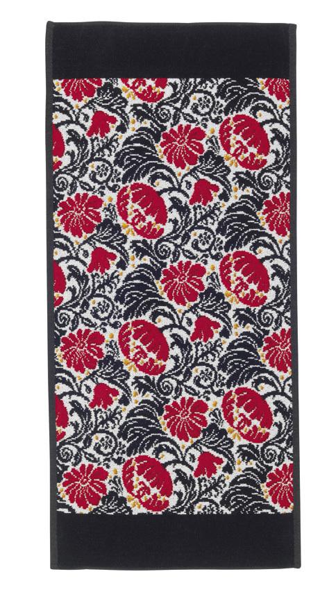 Шенилловое полотенце салфетка 25х25 Zoe 10 schwarz черный от Feiler