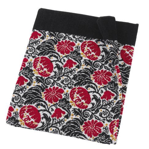 Шенилловое полотенце 75х150 Zoe 10 schwarz черный от Feiler