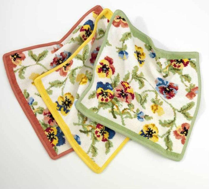 Шенилловое полотенце салфетка 30х30 Viola weis 179 pistazie фисташковый от Feiler