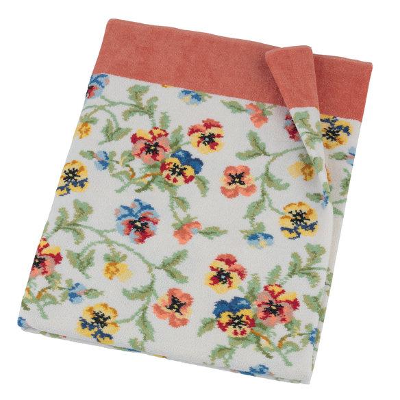 Шенилловое полотенце салфетка 37х50 Viola weis 112 terra терракотовый от Feiler