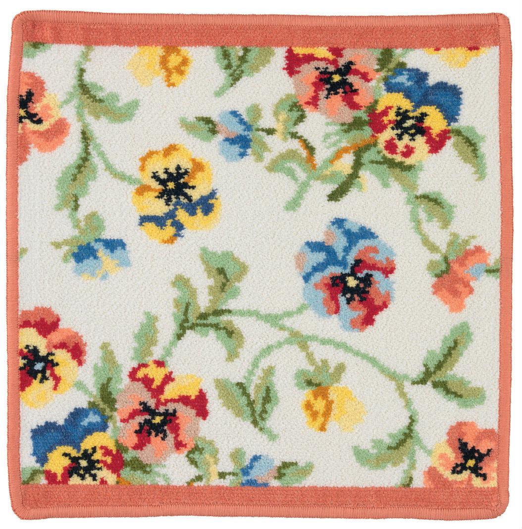Шенилловое полотенце салфетка 30х30 Viola weis 112 terra терракотовый от Feiler