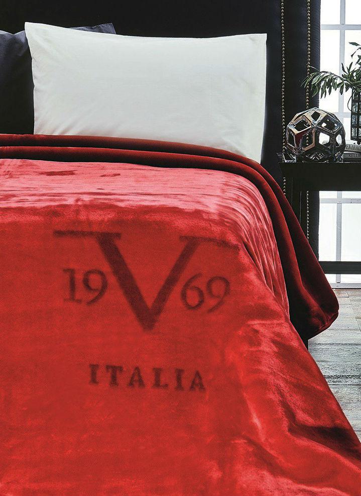 Плед-покрывало 220х240 Velluto Rosso красный от Versace 19.69