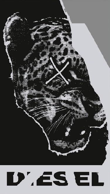 Полотенце 95х180 Ripper tiger 01 grigio от Diesel