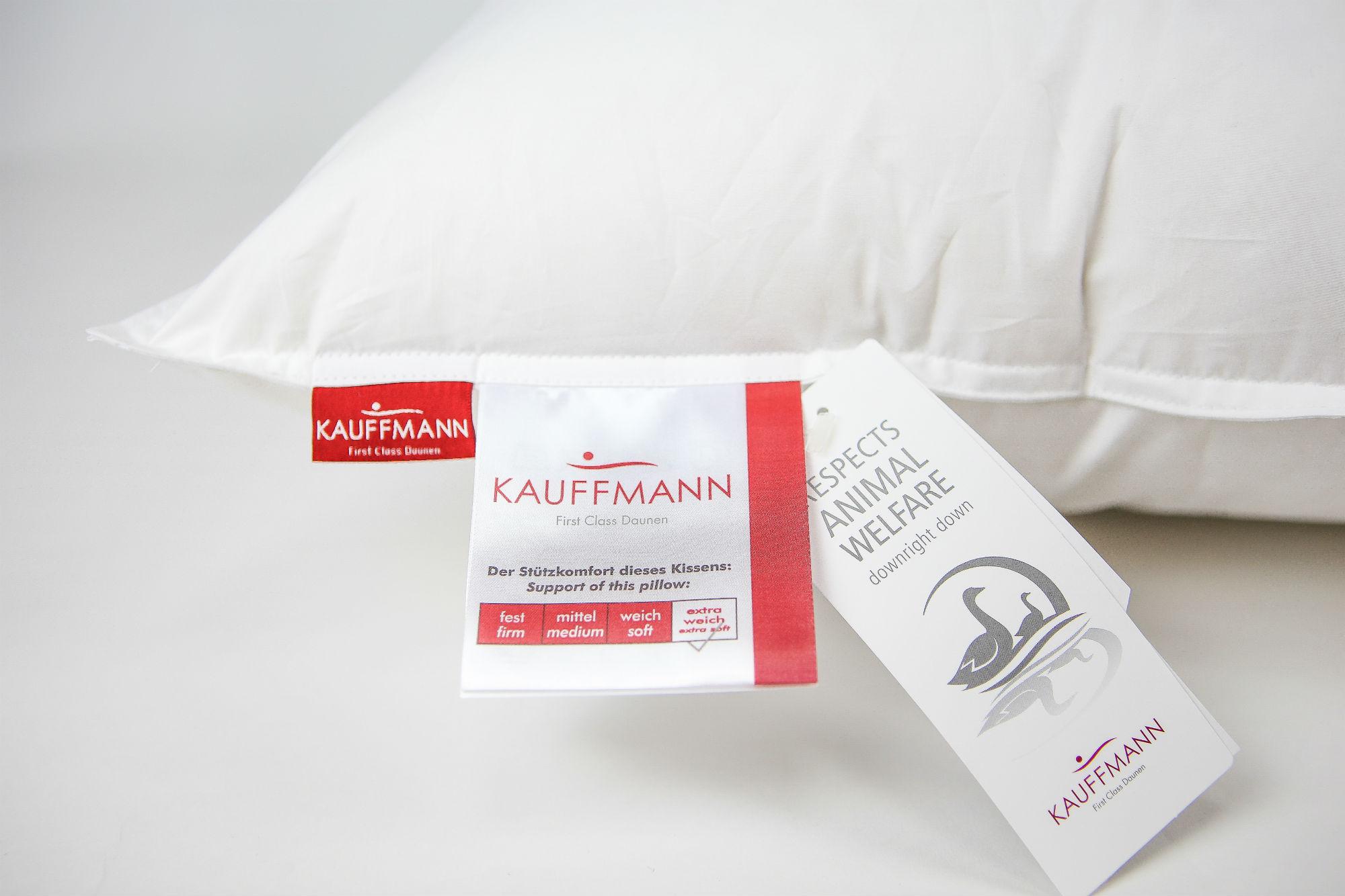 Подушка Kauffmann пуховая 50х70 De Luxe 100 очень мягкая