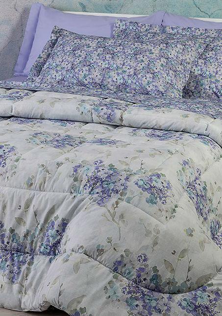 Постельное белье евро Hydrangea lilla от Mirabello