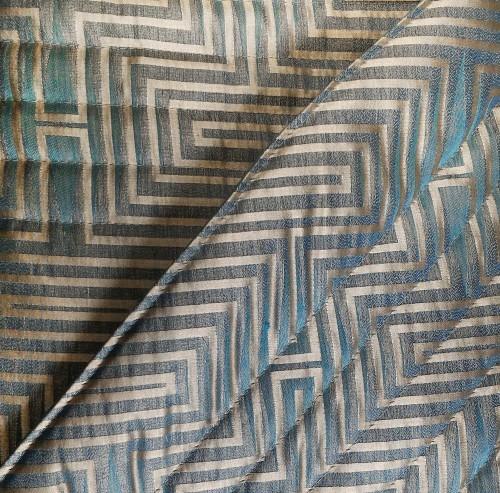 Покрывало 270x270 и 2 наволочки 30x50 La Perla Minos цвет бирюзовый с серебром